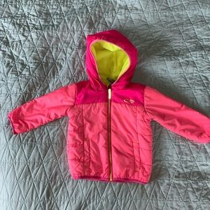 Champion Girls Fleece Lined Pink Puffer Coat, 18M